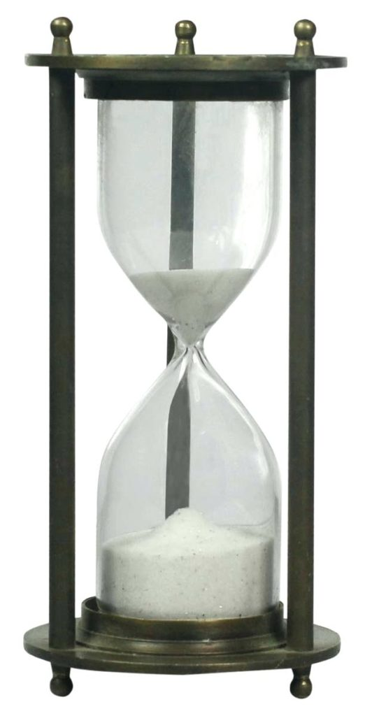 Wooden Sand Timer with White Sand