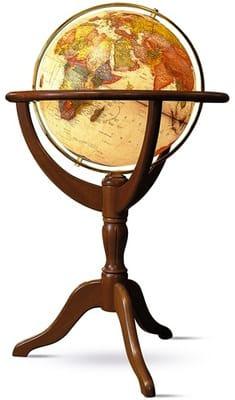Vintage Brass Antique World Map