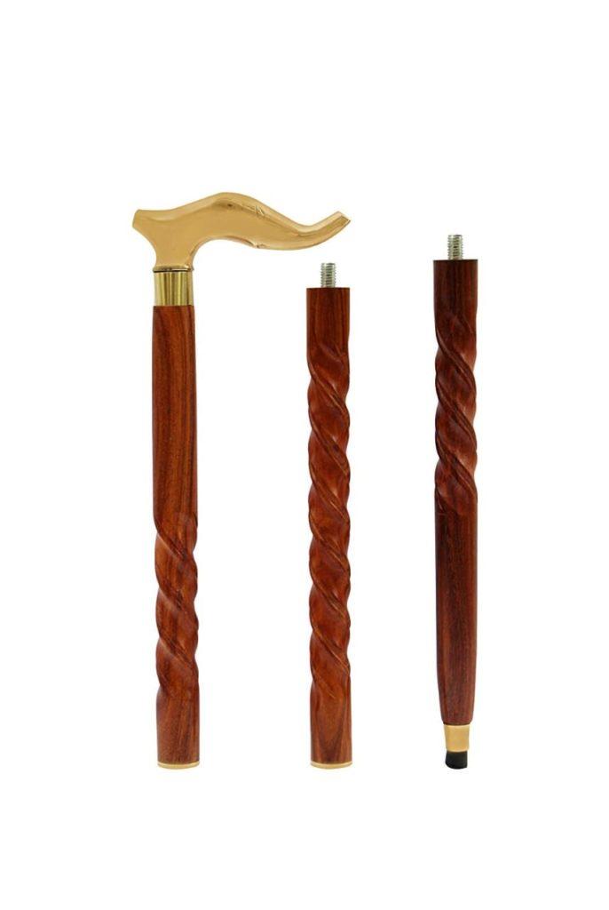 Wooden Foldable Folding Walking Stick