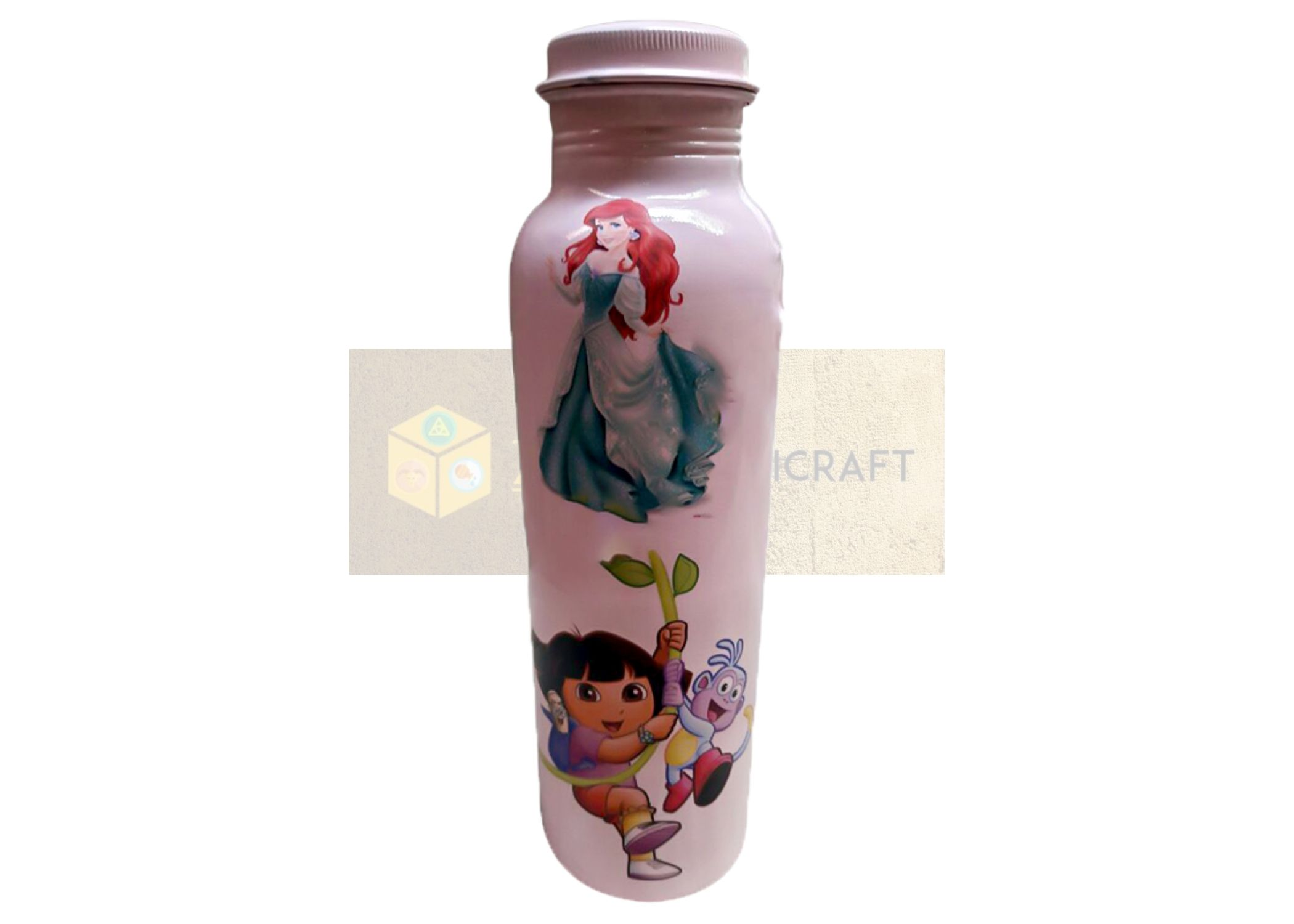 printed copper water bottle for kids