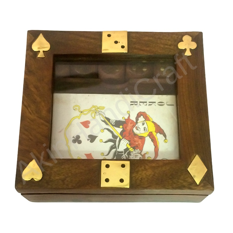 card with dice(with glass)