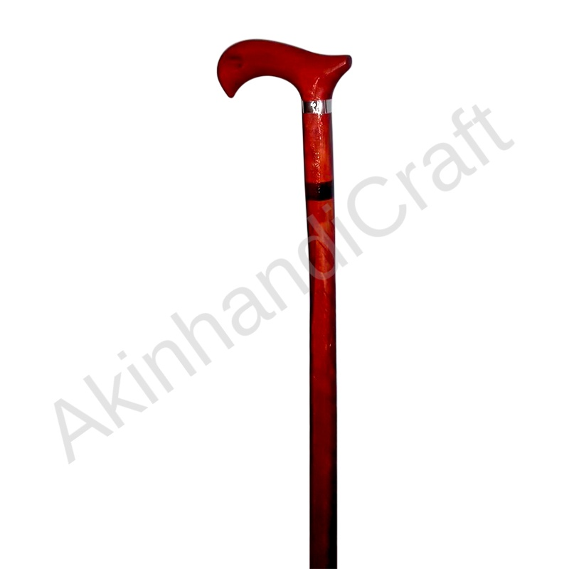 complete wooden walking stick