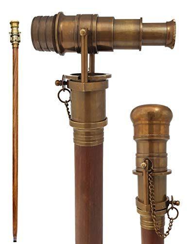 Brass Nautical Antique Telescope Finish Walking Stick