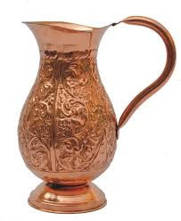 Pure Copper Flower Design Jug