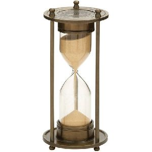 Wooden and Brass Sand Timer Hour Glass