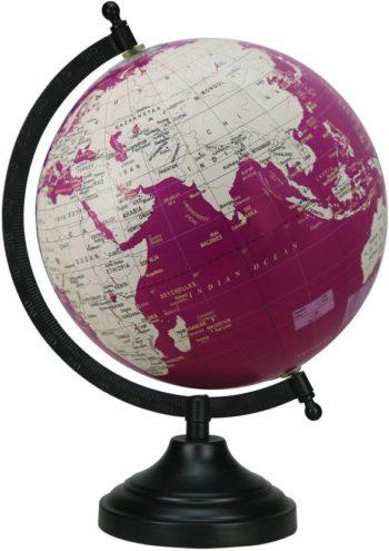Antique Globe with Black Matt Arc