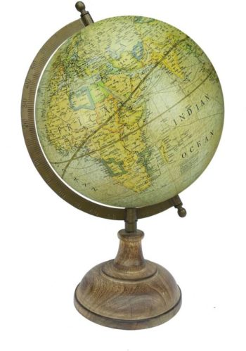 Antique Globe with Brass