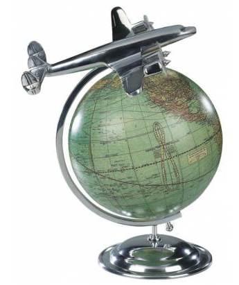 Antique World Globe Aeroplane