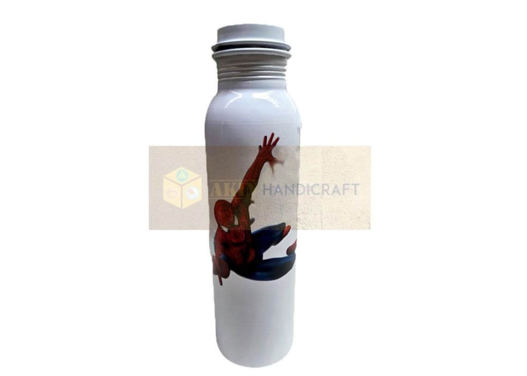 Cartoon Spider Man Printed Copper Bottle